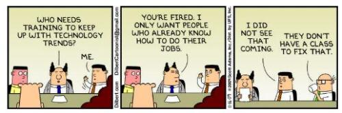 dilbert on training